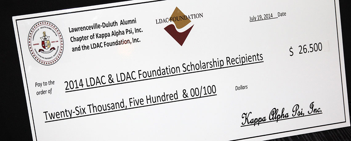 2014 LDAC and LDAC Foundation Scholarship Check